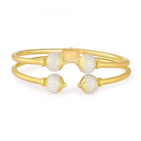 30840 - 22ct Gold Sparkle Modern Bangle