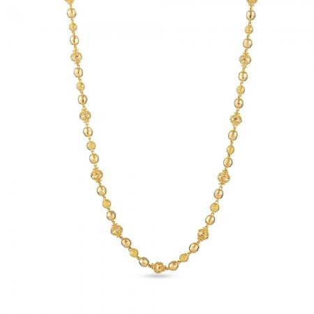 30846 - 22ct Yellow Gold Long Mala Chain