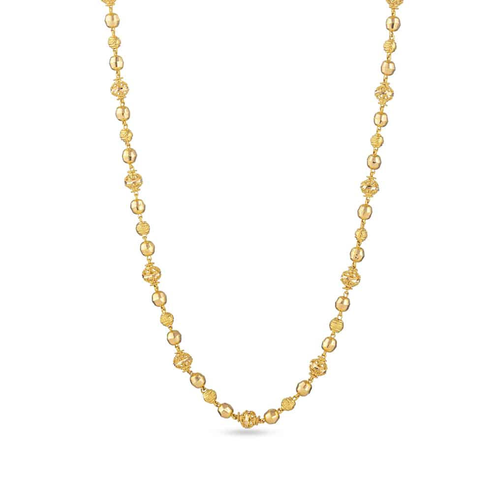 30846 - 22ct Yellow Gold Long Mala Chain