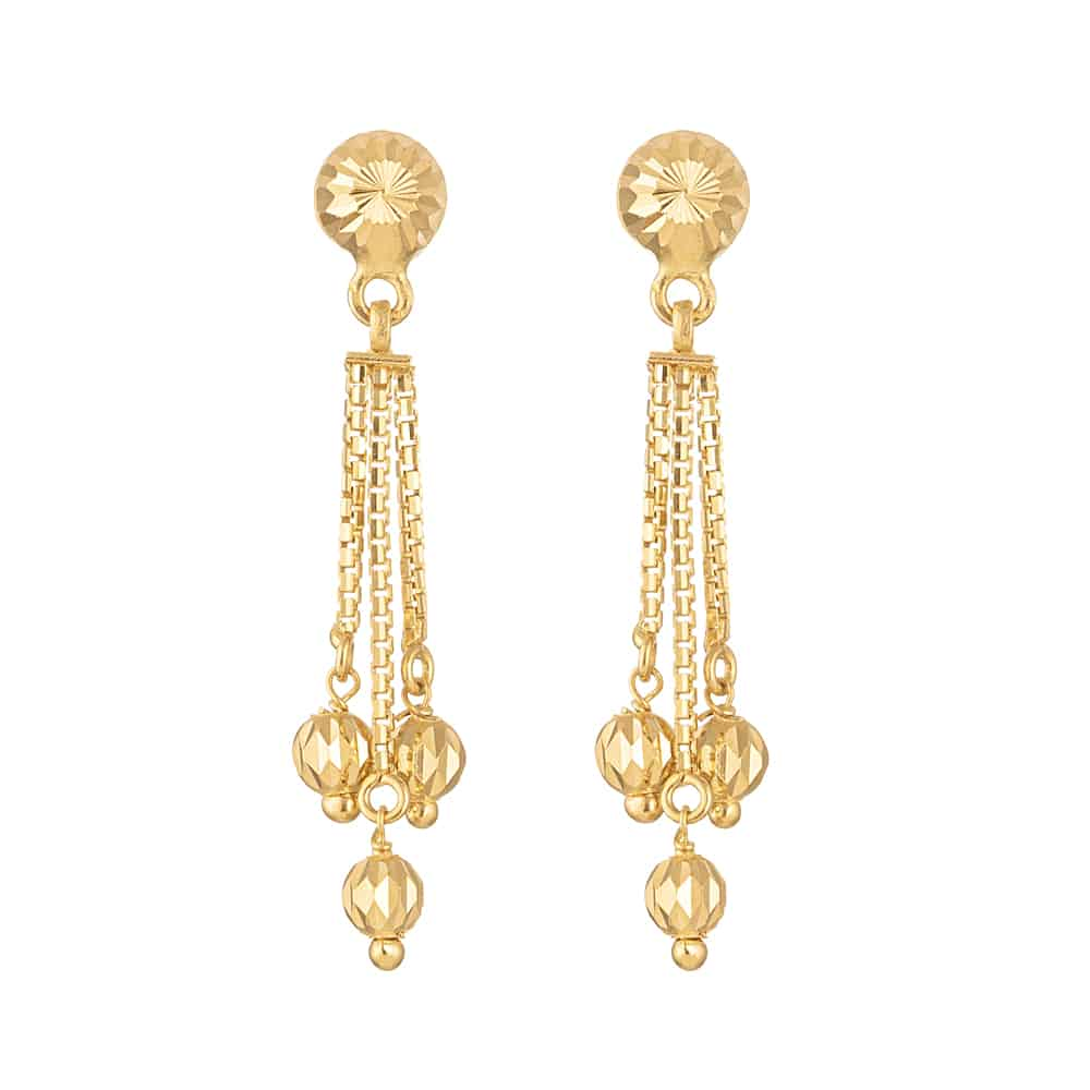 30882 - 22ct Gold Ball Drop Earring