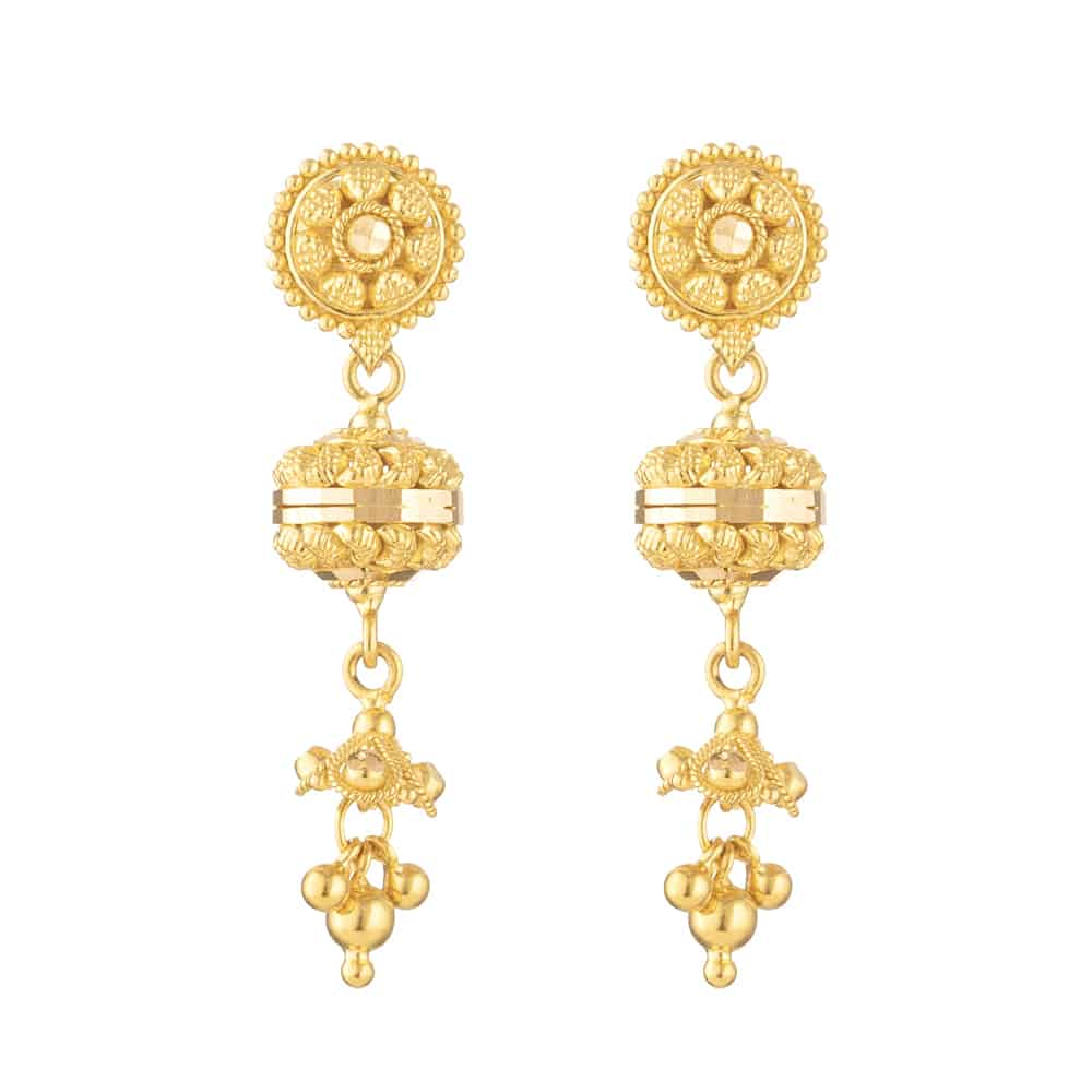 30884 - 22ct Gold Filligree Earring