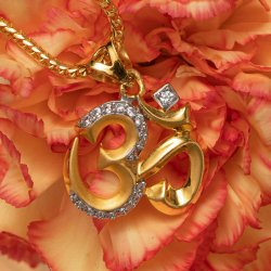 28759 - 22ct Gold Om Pendant