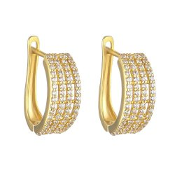 30459 - 22ct Gold CZ Earrings