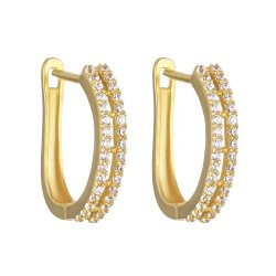 30466 - 22ct Gold CZ Earrings