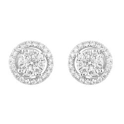 31082 - 18ct Gold Diamond Earstuds