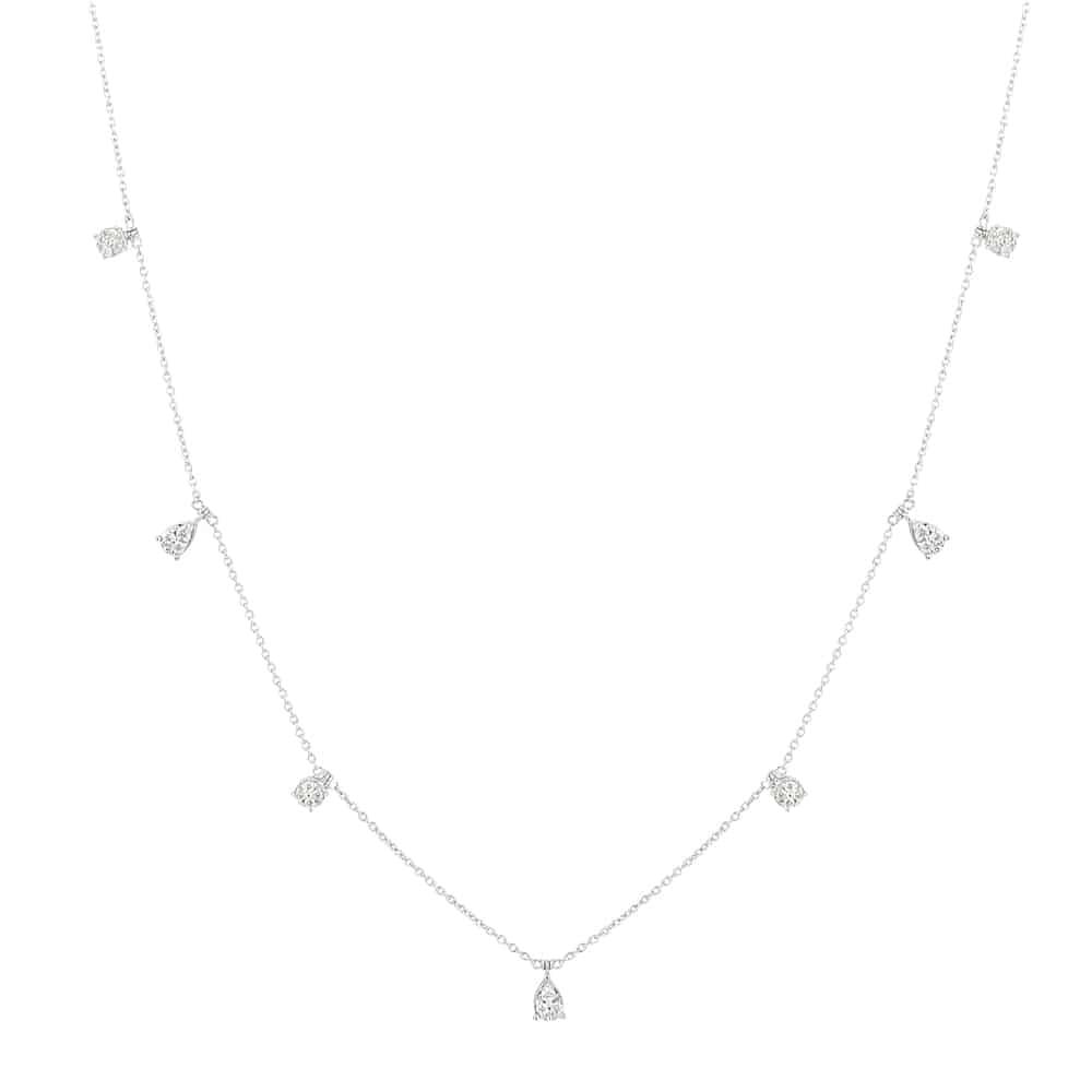 31088 - 18ct White Gold Diamond Necklace