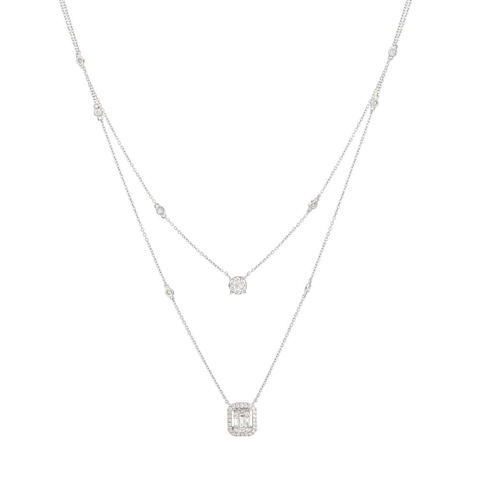 31090 - 18ct White Gold Diamond Necklace