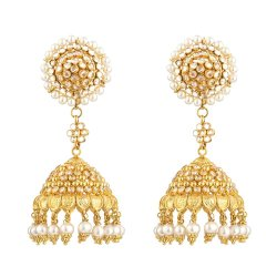 31093 - 22ct Gold Jhumka Earrings