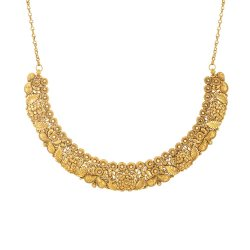 31095 - 22 Carat Gold Necklace With Antique Finish