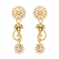 31100 - 22 Carat Gold Indian Earrings