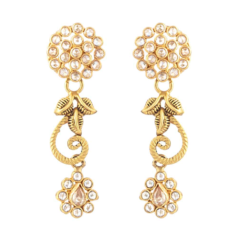 31100 - 22 Carat Gold Indian Earrings