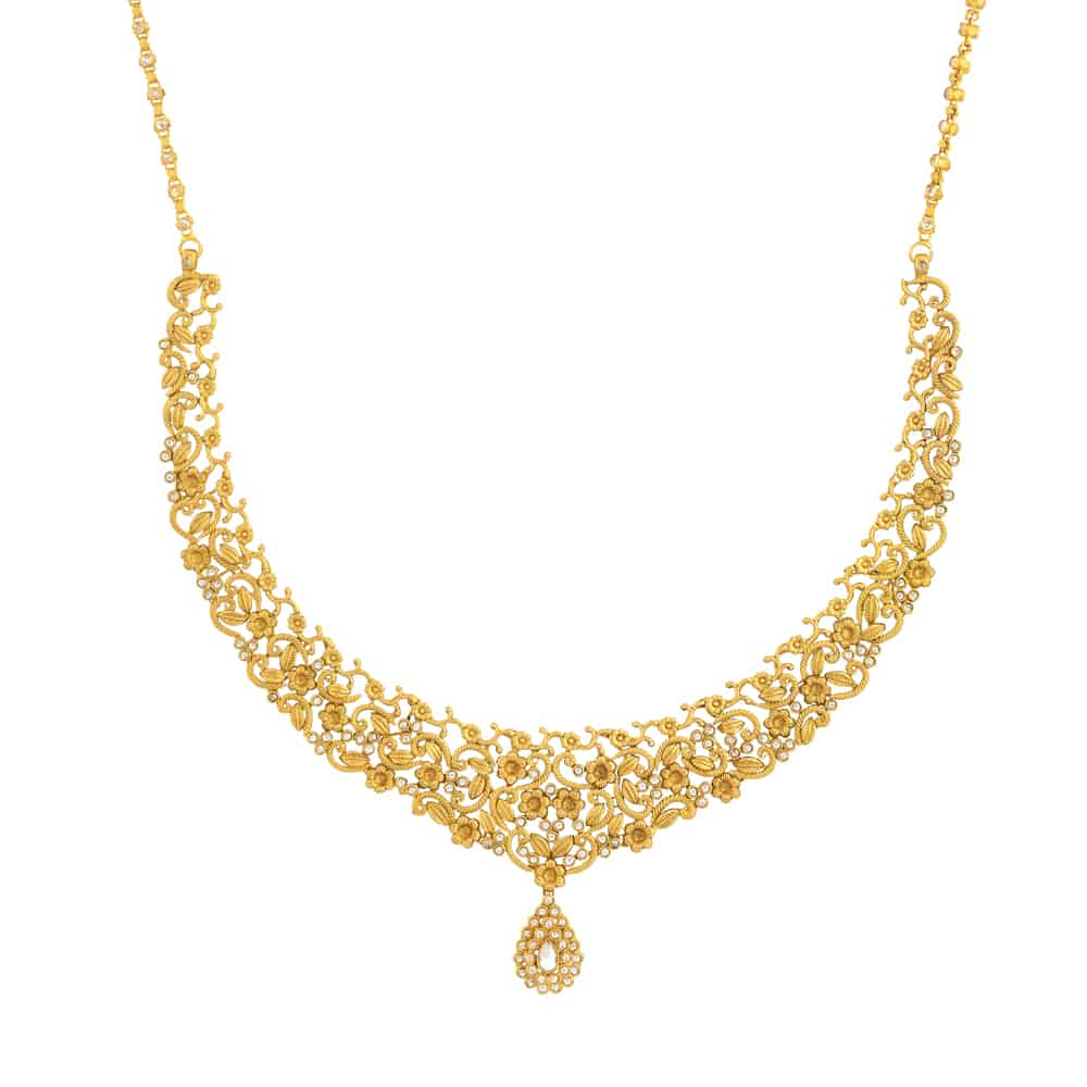 31101 - Bridal Necklace In 22ct Gold