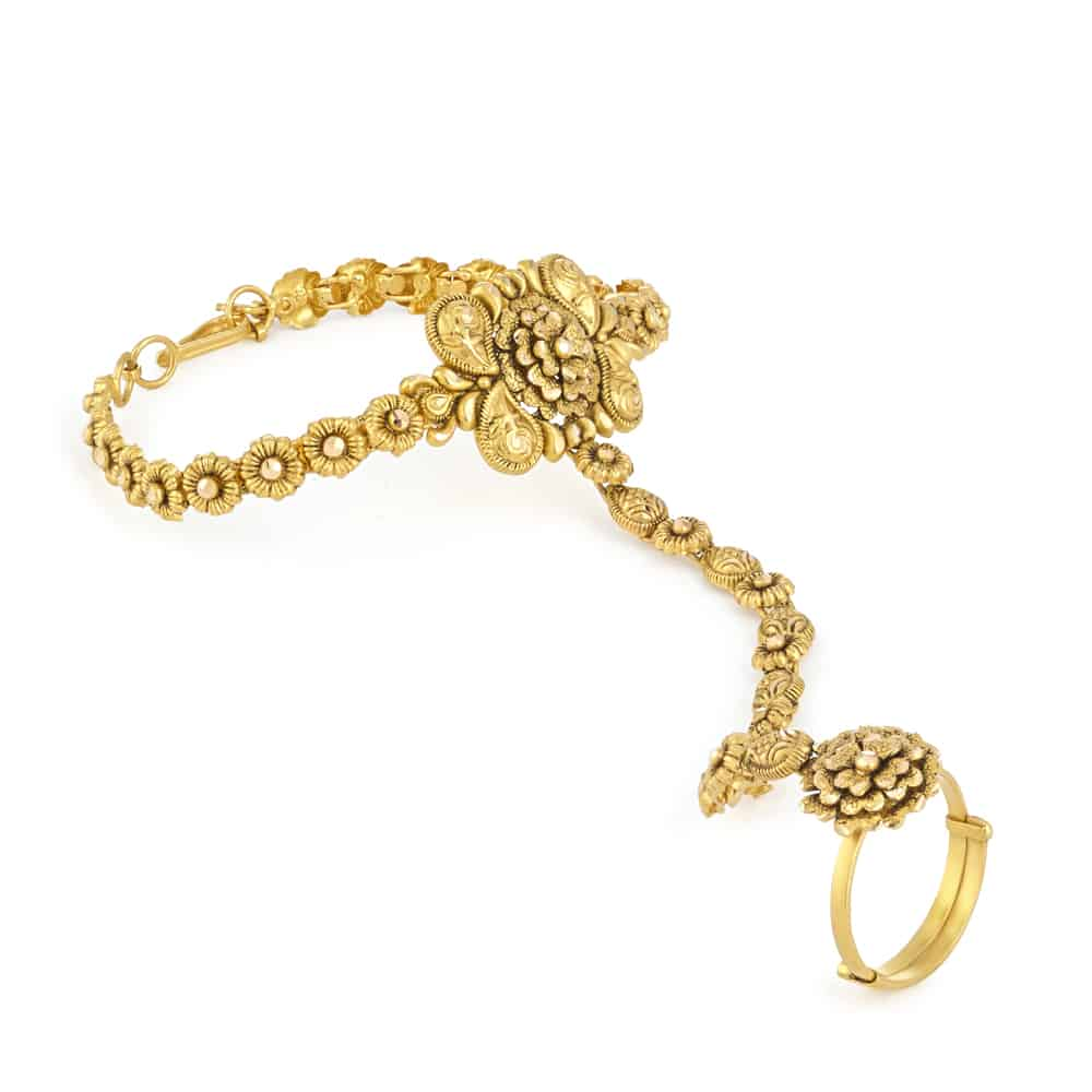 22ct gold Poncha ring bracelet