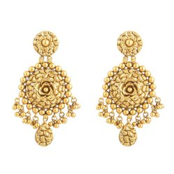 31105 - 22 Carat Gold Earring With Antique Finish
