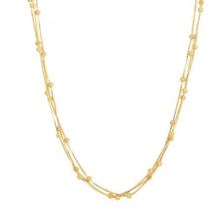 31117 - 22ct Gold Chain with Balls