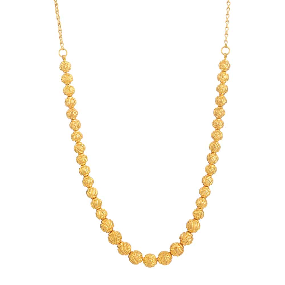 31161 - 22ct Gold Mala Necklace