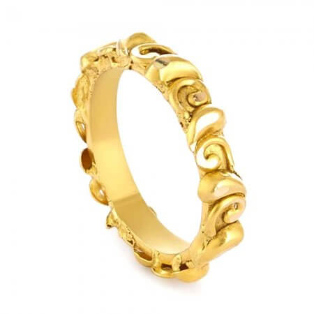 31174 - 22 Carat Gold Ring With Antique Finish