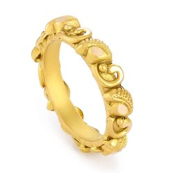 31175 - 22ct Gold Antique Finish Indian Ring