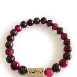 31067 - Pink Tiger Eye Ram Bracelet (S)