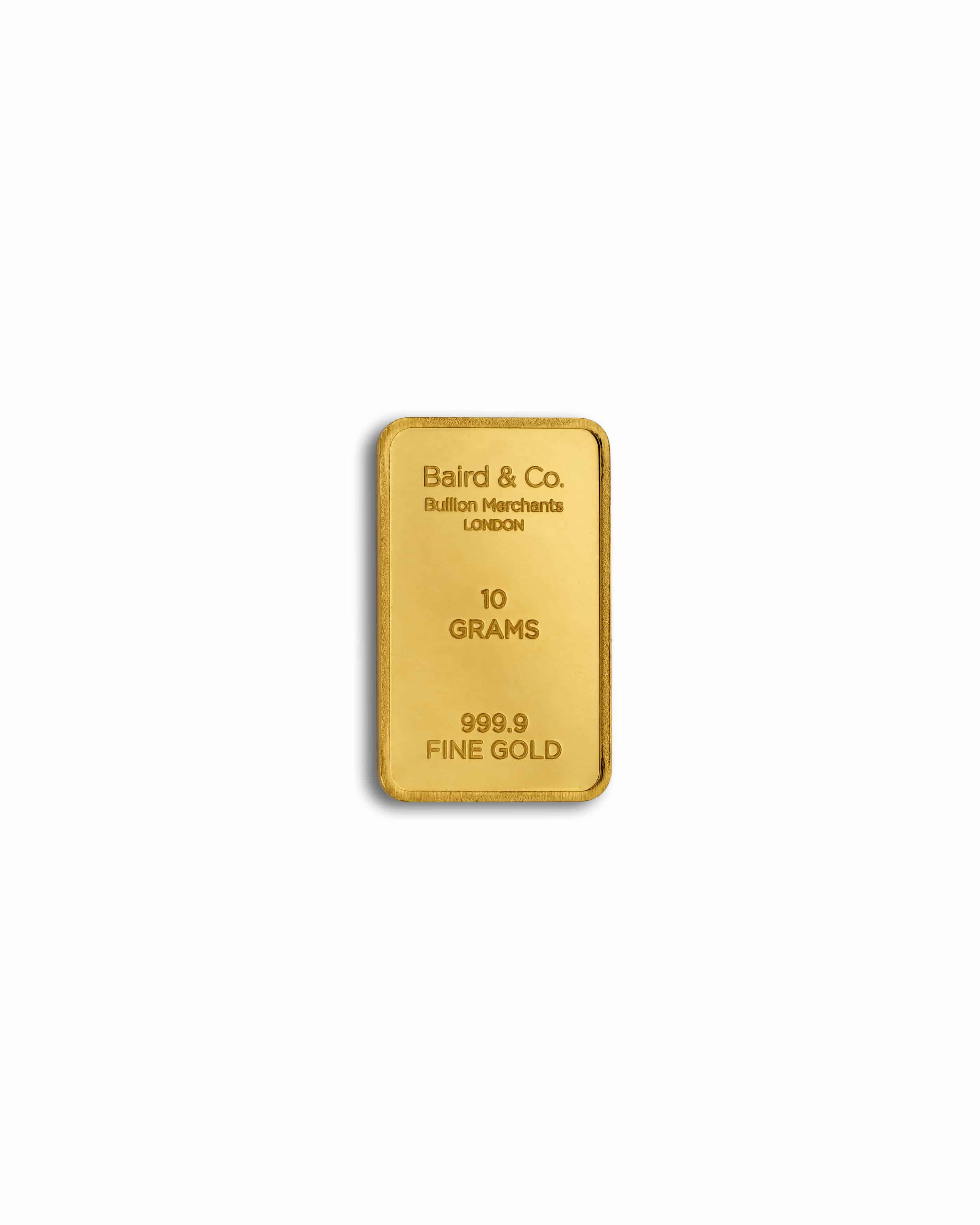 10 gm goldbar - 10.0 Gram Fine Gold Bar in 24ct