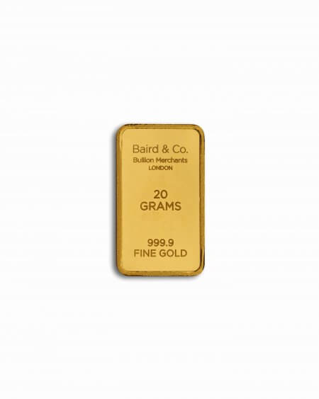 20gm goldbar - 20.0 Gram Fine Gold Bar in 24ct