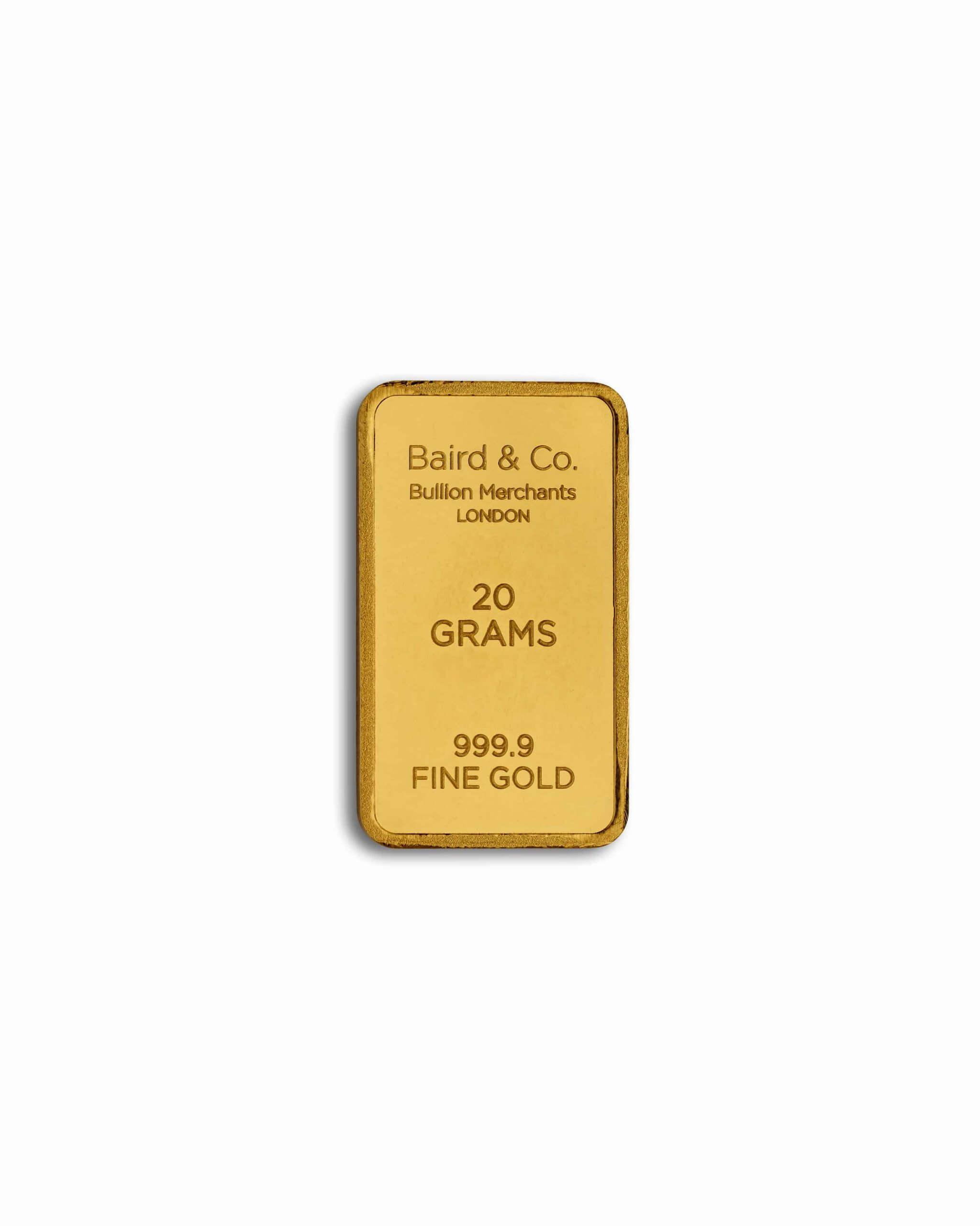 999.9 20gm Gold Bar