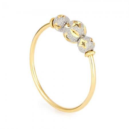 25039 - 22K Gold Ring With Rhodium Finish