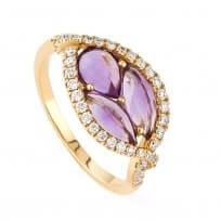25320 - 18kt Rose Gold Diamond Rings UK