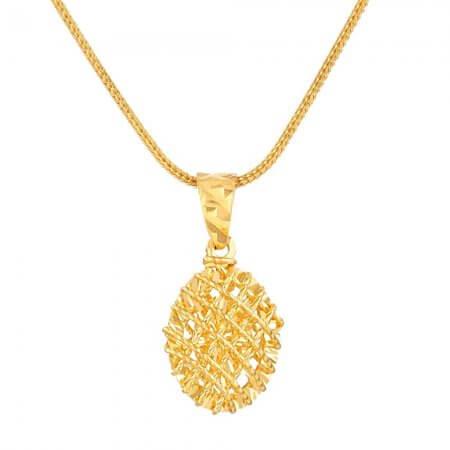 30693 - 22 Carat Gold Oval Pendant