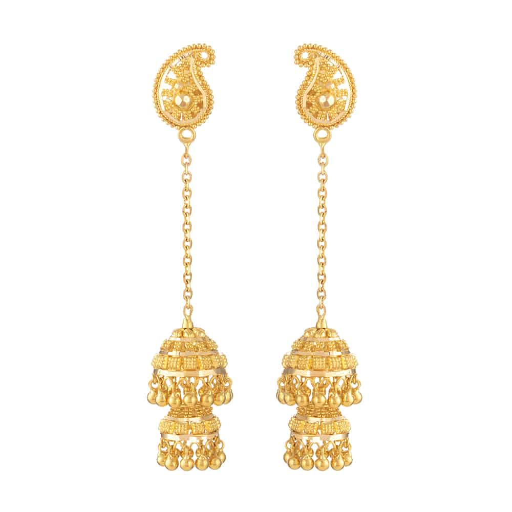 31033 - 22ct Gold Indian Bridal Earring