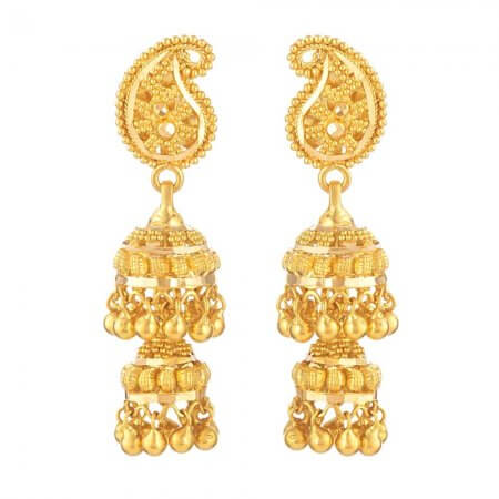 31034 - 22ct Gold Indian Bridal Earring