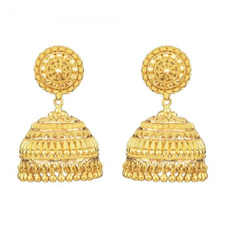 31159 - 22ct Indian Gold Jhumkha