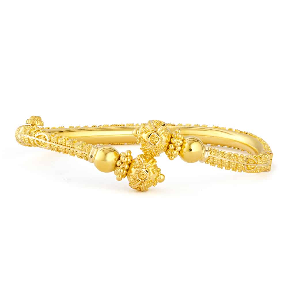31233 - 22ct Yellow Gold Single Bauble Bangle