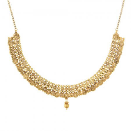 31235 - 22ct Gold Indian Bridal Necklace