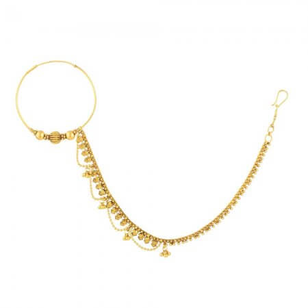 31237 - 22ct Gold Indian Bridal Nath