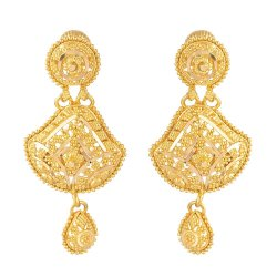 31239 - 22ct Gold Indian Bridal Earring