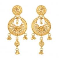 31241 - 22ct Chand Bali Bridal Earrings