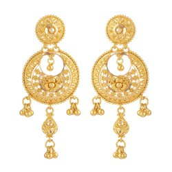 31241 - 22ct Chand Bali Bridal Earring