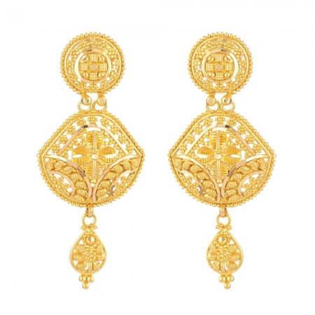 31243 - 22ct British Hallmarked Bridal Earring