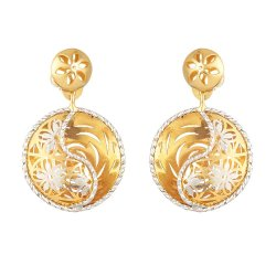 30948 - 22 Carat Gold Earring With Rhodium Finish