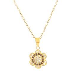 31412 - 22 carat Gold CZ Pendant