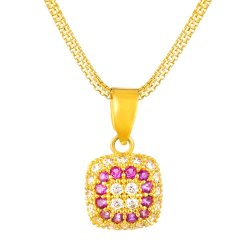 31418 - 22ct Pendant with Cubic-Zirconia stone