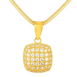 31422 - 22ct Pendant Studded With Cubic-Zirconia Stones