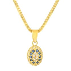 31424 - 22ct Pendant Studded With Cubic-Zirconia Stones