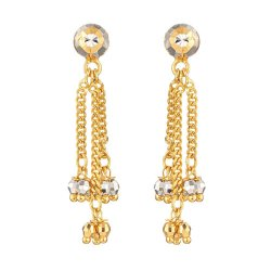 31714 - 22ct Gold Ball Drop Earring