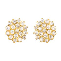 31738 - 22ct Gold Cubic Zirconia Stud Earring