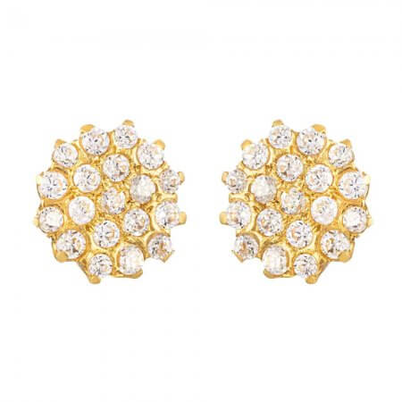 31738 - 22ct Gold Cubic Zirconia Stud Earring