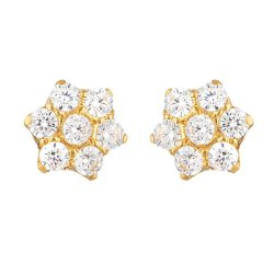 31745 - 22ct Gold Cubic Zirconia Stud Earring