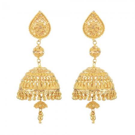 31761 - 22ct Indian Gold Jhumkha