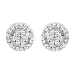 31874,31873 - 18ct Gold Diamond Earstuds